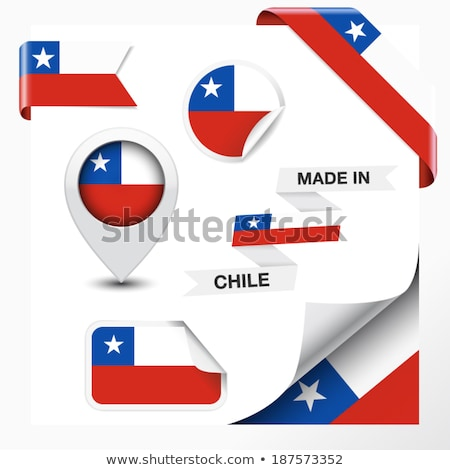 Chile zászló matrica terv illusztráció háttér Stock fotó © colematt