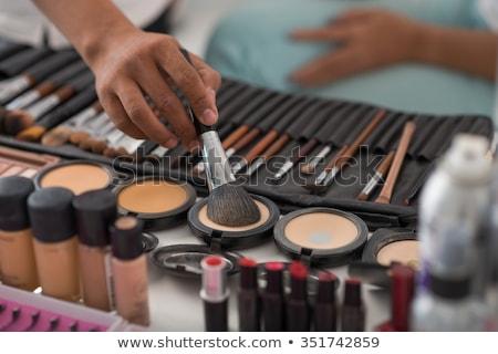 визажист · зеркало · макияж · комнату · женщину · лице - Сток-фото © ruslanshramko