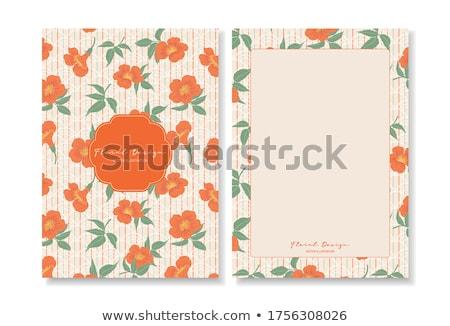 Tebrik kartı kartpostal çiçek doğa yaprak Stok fotoğraf © lemony