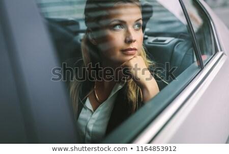 zangado · feminino · motorista · retrato - foto stock © andreypopov