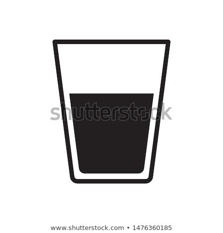 Vidrio agua icono vector logo símbolo Foto stock © blaskorizov