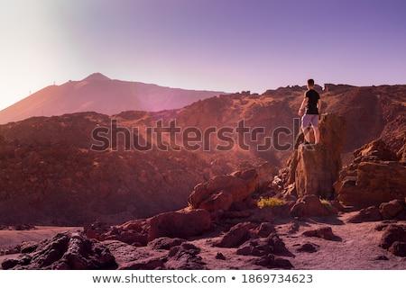 Panorama volcan tenerife Espagne nuages paysage Photo stock © MichaelVorobiev