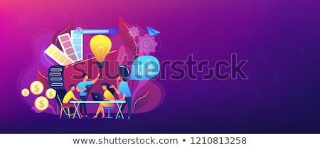 Digital marketing team concept banner header. Stock photo © RAStudio