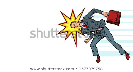 businessman ramming head obstacle Stock photo © studiostoks