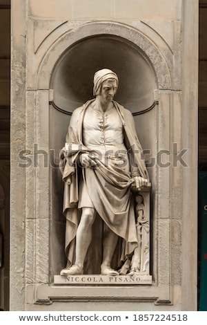 niccola pisano monument in florence italy stock photo © boggy