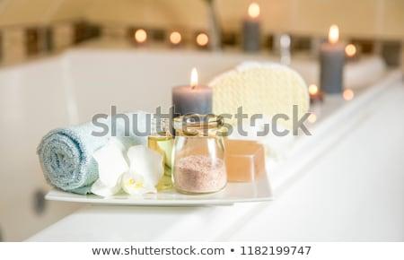 Fürdő természetes fürdősó kozmetika termékek wellness Stock fotó © mythja