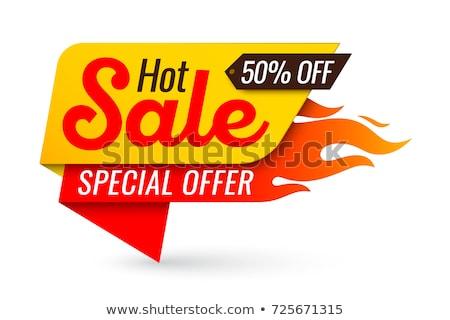 Caldo prezzo tag super vendita promo Foto d'archivio © robuart