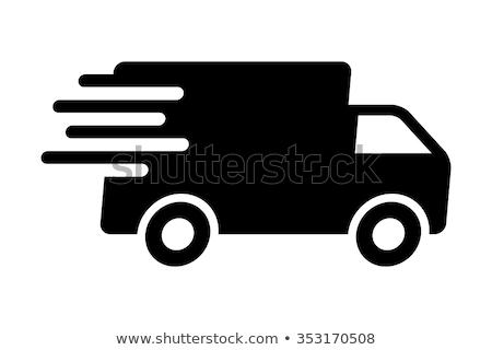 грузовик движущихся иллюстрация дороги Cartoon доставки Сток-фото © lenm