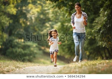 Stock fotó: Lány · fut · park · illusztráció · sport · természet
