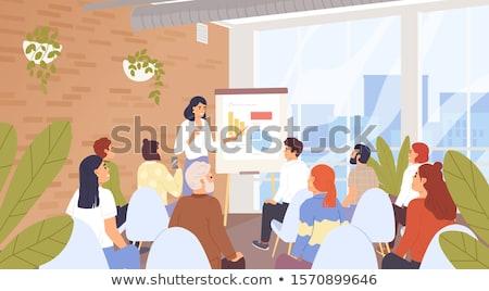Presentación personas seminario sesión escuchar información Foto stock © robuart