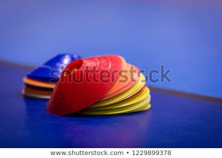 grupo · colorido · azul · campo · fútbol - foto stock © matimix