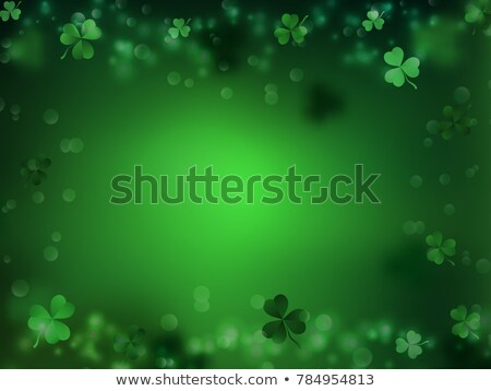 Banner With Clovers Green Background Stock photo © cammep