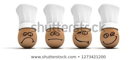 Tojások négy különböző arckifejezések illusztráció arc Stock fotó © colematt