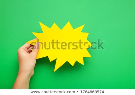 Nem felirat papír szövegbuborék felhő beszéd Stock fotó © FoxysGraphic