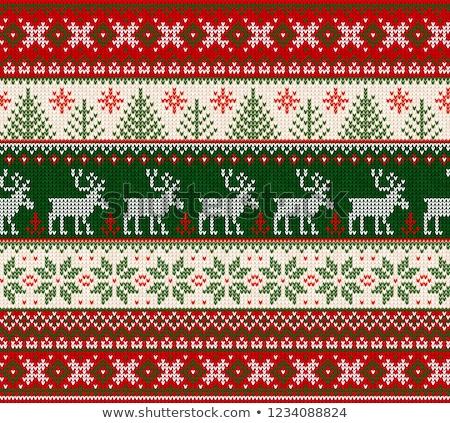 семьи шерсти Рождества иллюстрация девушки детей Сток-фото © adrenalina