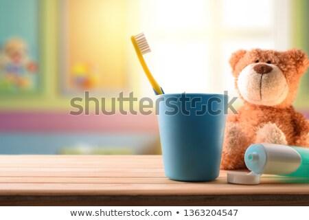 casal · saúde · banheiro · banho · estúdio · rosa - foto stock © make