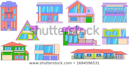 Two stories house with balcony Stock photo © colematt