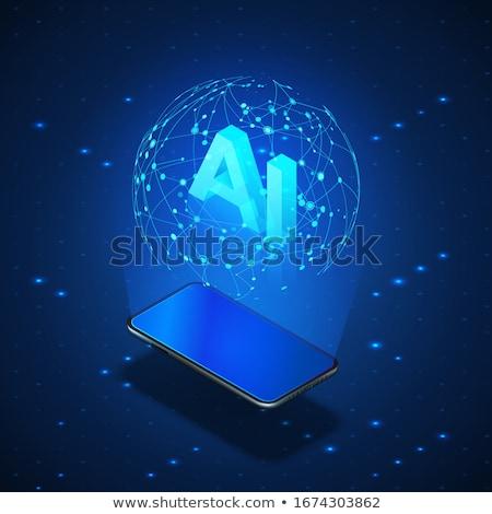 Mobile robotics isometric 3D banner header. Stock photo © RAStudio