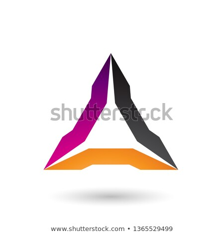 Magenta Orange and Black Spiked Triangle Vector Illustration Stock photo © cidepix