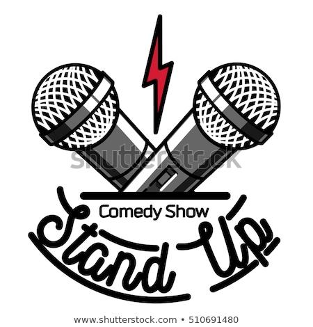 Color vintage Stand up comedy show emblem Сток-фото © netkov1