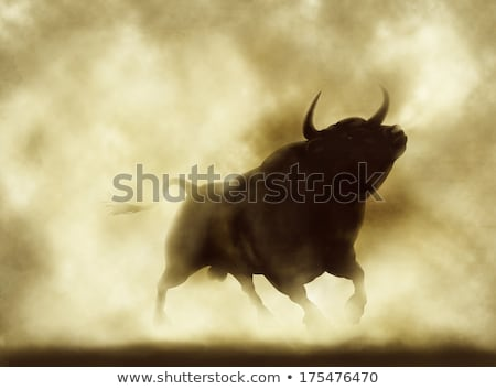 Bull Charging Silhouette Stock photo © Krisdog