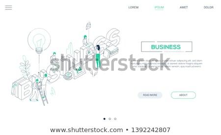 email marketing   line design style isometric web banner stock photo © decorwithme