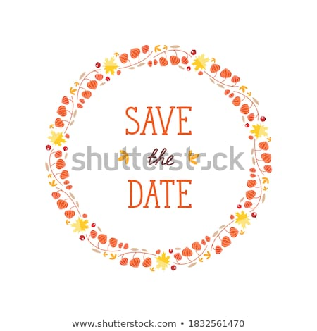 card with autumn maple leaf template eps 8 stock photo © beholdereye
