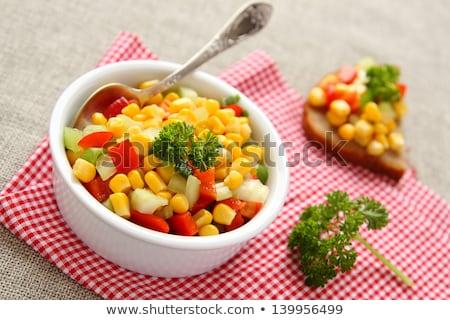 bruschetta · zeller · tojások · stílus · klasszikus · szelektív · fókusz - stock fotó © melnyk