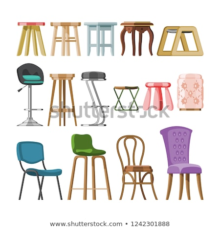 Chair Classic Design, Wooden and Soft Seat Vector Stock photo © robuart