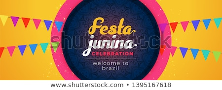 festa junina awesome celebration banner design Stock photo © SArts