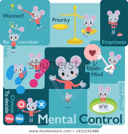 animal mouse boy_Mental Stock photo © toyotoyo