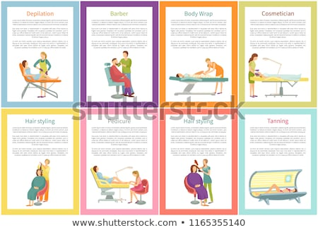 Depilation and Tanning Cosmetician Posters Vector Stock photo © robuart