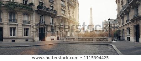 Eiffel tour Paris rua famoso Torre Eiffel Foto stock © neirfy