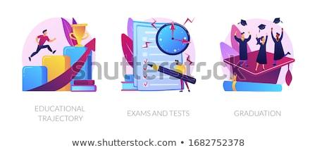Educativo trayectoria objetivo logro carrera promoción Foto stock © RAStudio