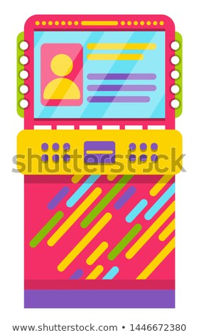 Game Machine with Users Info Profile of Player Stock photo © robuart