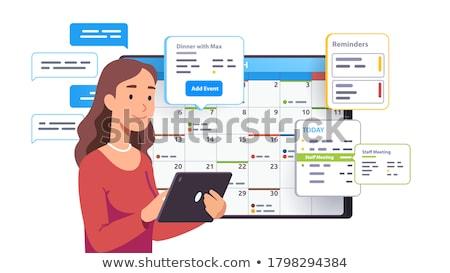 Takvim uygulama arayüz dijital bileşik ofis sevmek Stok fotoğraf © wavebreak_media
