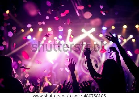 Crowd enjoying great festival party. Concert at night Stock photo © galitskaya
