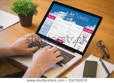 Volo prenotazione internet online modello piano Foto d'archivio © lichtmeister