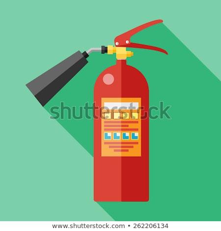 Yangın söndürücü ikon vektör yalıtılmış beyaz düzenlenebilir Stok fotoğraf © smoki