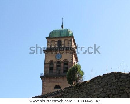 Mittelalterlichen Kirche Frankreich Brunnen Gebäude Stadt Stock foto © borisb17