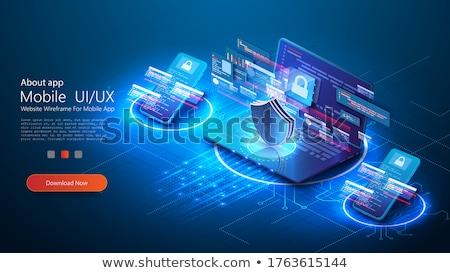 Firewall tarcza sieci Zdjęcia stock © RAStudio