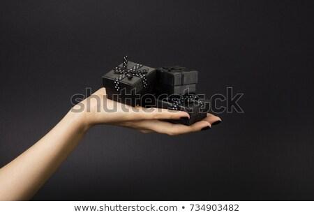 Black friday vásár fehér kicsi bolt fekete Stock fotó © SArts