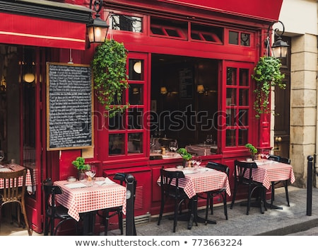 French terrace outdoor Stock photo © ivonnewierink