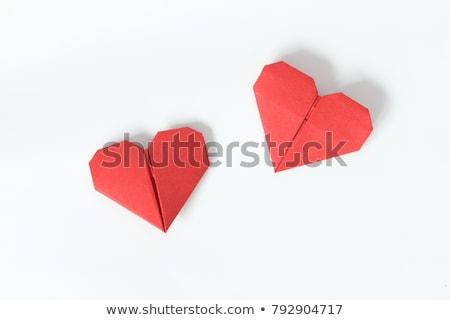 красный оригами сердце символ любви Сток-фото © nomadsoul1