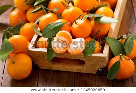 Fresh tangerines  Stock photo © Alex9500
