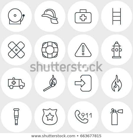 Lifebuoy Circle Icon Vector Outline Illustration Stock photo © pikepicture
