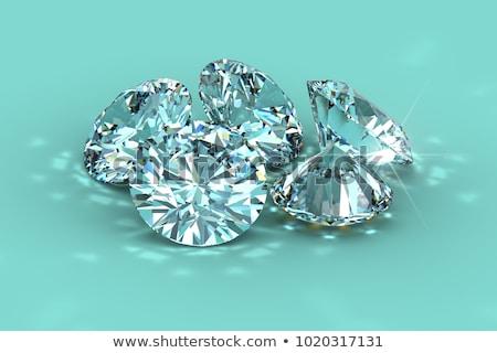 Vijf briljant gesneden diamanten edelstenen grijs Stockfoto © Arsgera
