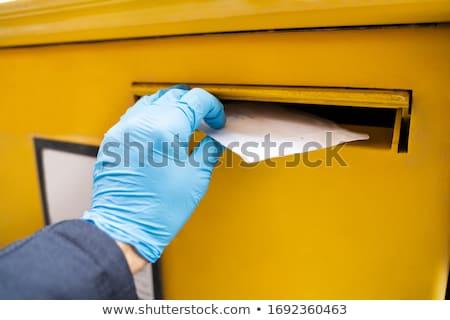 Man brief mailbox handschoenen Stockfoto © AndreyPopov
