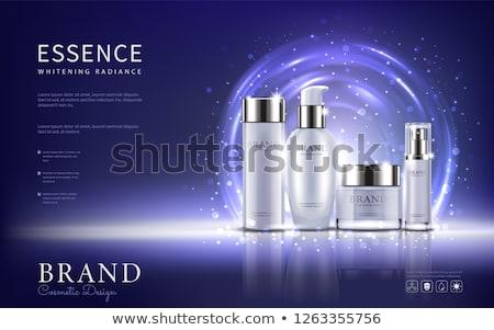Face cream moisturizer in a jar and serum gel bottle, luxury skincare cosmetics and organic anti-agi Stock photo © Anneleven