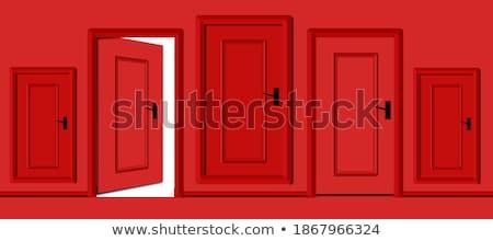 белый стены красный двери закрыто Сток-фото © sedatseven